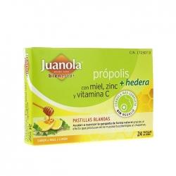 Juanola própolis + hedera 24 pastillas sabor miel y limón