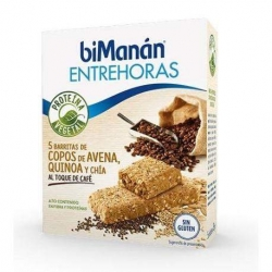 BIMANAN entrehoras barritas de avena,quinoa ,chía al toque de café