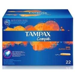 Tampax compak super plus 22 unidades