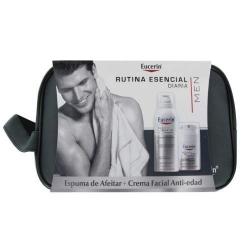 Eucerin neceser hombre crema hidratante y espuma de afeitar