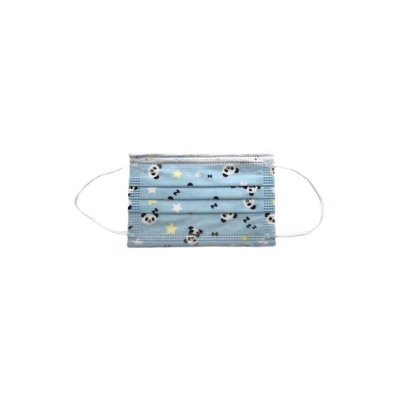 Pack 10 mascarillas INFANTILES tres capas blancas perro azul 3-12 años