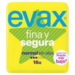 Evax Compresas Fina Y Segura Normal Sin Alas 16 unidades