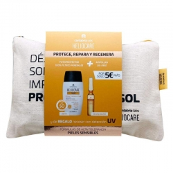 Heliocare 360º SPF 50 Mineral Tolerance 50ml + 10 ampollas Endocare Radiance + Regalo Neceser