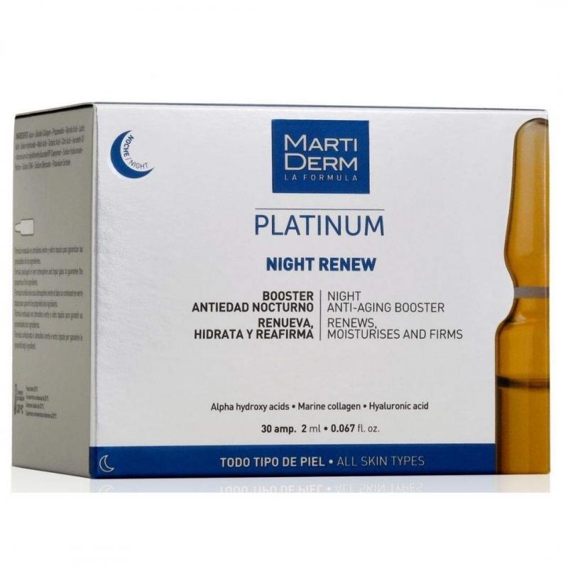 Martiderm Ampollas Night Renew 30 ampollas