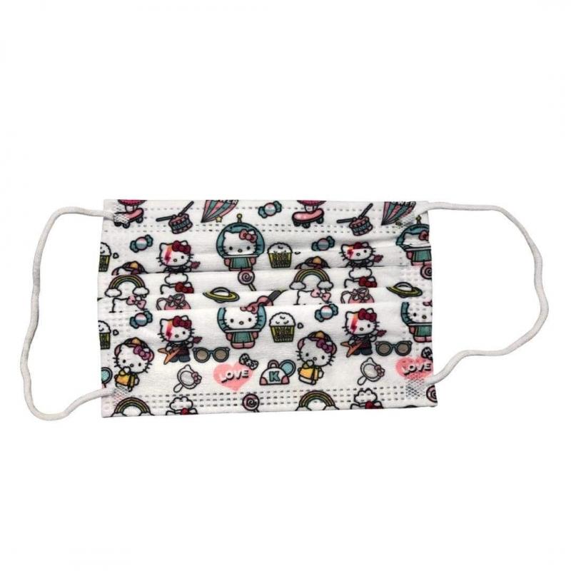 Mascarillas Quirúrgicas Infantiles Hello Kitty 10 Unidades